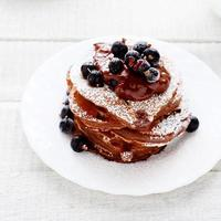 summer chocolate pancakes