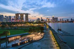 Singapore city skyline view at Marina Bay photo