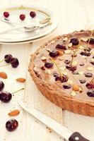 Sweet chocolate tart cake