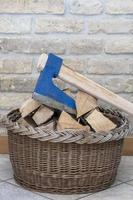 Fire wood and axe photo