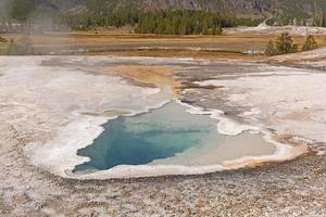 Colorful Spring in a Geyser Basin photo