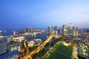 vista aérea del horizonte de singapur foto