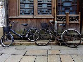 Bicycles in China's street photo