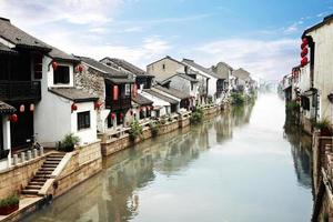 hermosa ciudad china del agua