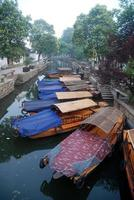 Chinese traditional wooden boat