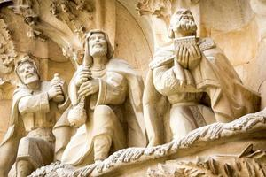 Holy three kings in stone photo