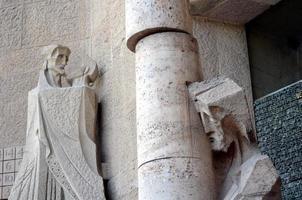 Architectural details of Sagrada Familia Barcelona