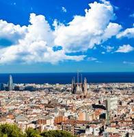 Paisaje urbano de barcelona. España.
