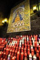Candles for the Mother of God, Montserrat, Catalonia, Spain. photo