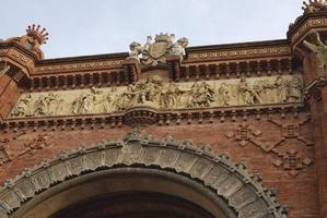 detalhe no arco do triunfo. Barcelona. Espanha