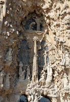 Detalles arquitectonicos de la sagrada familia barcelona españa foto