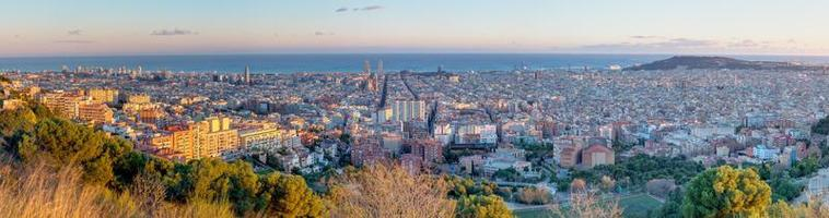 panorama de barcelona foto
