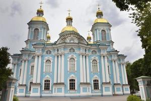 S t. catedral naval de nicholas. Petersburgo Rusia foto