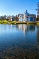 arquitectura clásica azul del barroco en tsarskoye selo foto