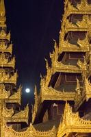 Myanmar Architecture in Monastery