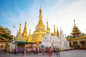 Shwedagon pagoda in Yagon, Myanmar photo
