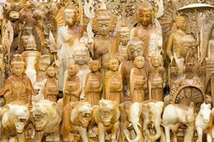 Wooden statues photo