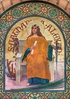 jerusalén - pintura de santa catalana de alejandría