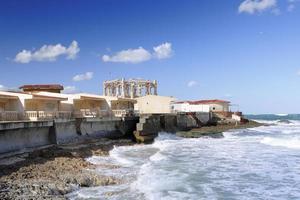 Alejandría, frente al mar. Egipto foto