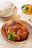 Indian chicken curry photo