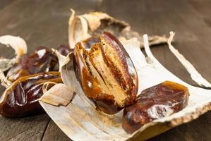 Dried date palm fruits or kurma photo
