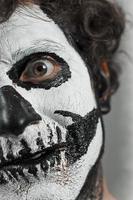 peinture de crâne d'halloween