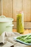 preservando aspargos verdes
