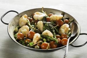 Shrimps and Asparagus stir-fried