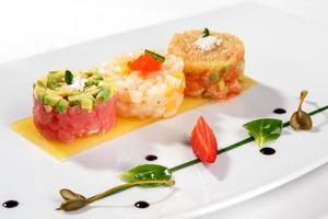 Tartar with tuna fish photo
