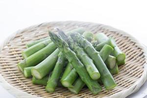 Boiled asparagus photo