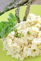 rice by asparagus cream photo