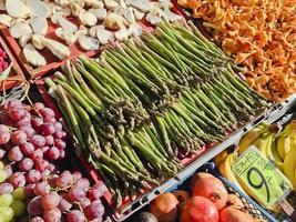 Vegetal en el mercado foto