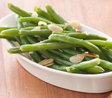 green beans almondine. photo