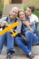 familia feliz y hobby foto