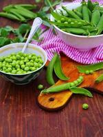 Fresh green peas.
