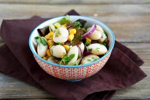 Light salad with vegetables photo