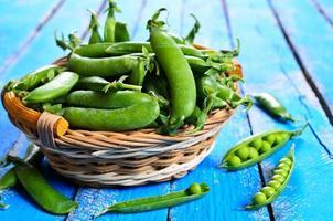 Fresh peas photo