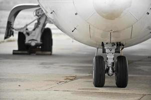 ruedas de avión foto