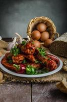 alitas de pollo calientes foto