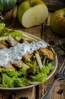 Waldort salad with grilled chicken photo