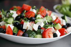 trío de ensaladas frescas foto