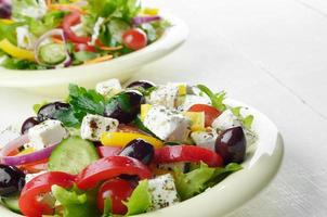 Homemade greek salad photo