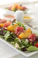 peach salad vertical photo
