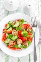 salada de cogumelos