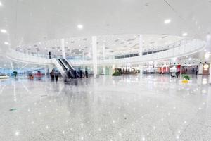 modern airport terminal waiting room