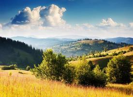 sunny mountain landscape photo