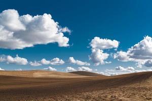 paisaje de tierras de cultivo a tope foto