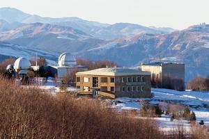 paisagem de montanhas do observatório