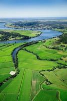 paisagem aérea de terras agrícolas