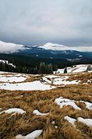 Winter mountain landscape photo